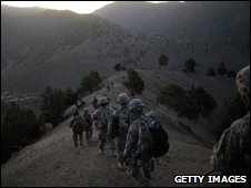 US sodliers in Paktika Province, Afghanistan