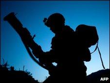 US soldier in Kunar Province, eastern Afghanistan