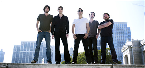Snow Patrol on a roof