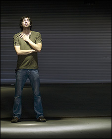 Gary Lightbody in a body of light