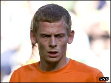 Dundee United midfielder Scott Robertson