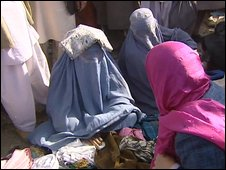 Women in burqas