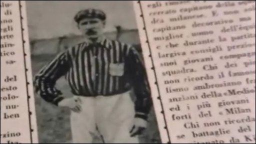 Picture of Herbert Kilpin in a newspaper article