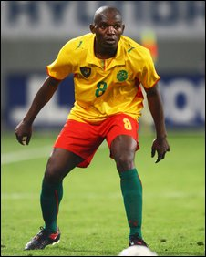 Geremi in action for Cameroon