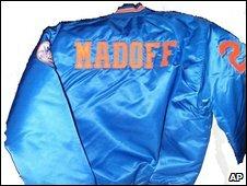Baseball jacket with Madoff on the back