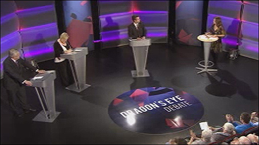 The candidates on the debate programme