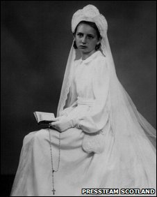 Paulette Bisiaux in Communion dress
