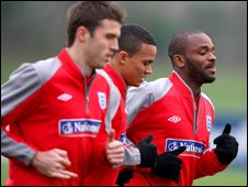 Darren Bent during England training