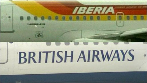 Iberia and British Airways aircraft