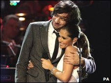 Snow Patrol's Gary Lightbody and Cheryl Cole