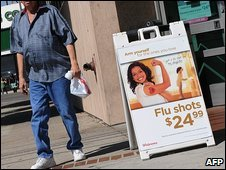 Swine flu jabs advertised in in Los Angeles