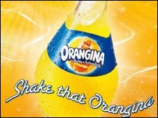 An Orangina bottle