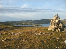 Looking back to the Ward, Shetland