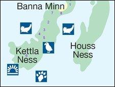 Banna Minn Map, image courtesy of Shetland Amenity Trust