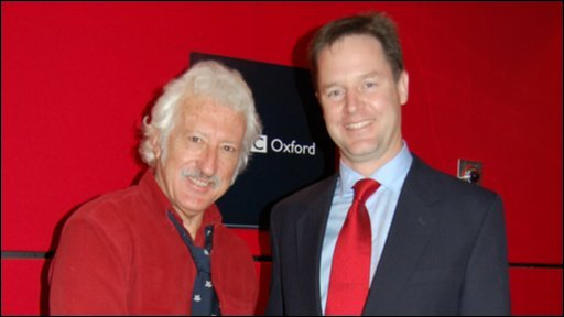 Bill Heine and Nick Clegg