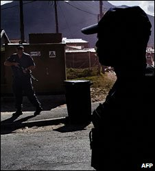 South African police officers (file photo)