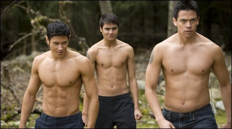 (Left to right) ALEX MERAZ, KIOWA GORDON, and CHASKE SPENCER