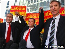 Iain Gray, Willie Bain and Jim Murphy