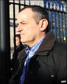 Jose Ignacio de Juana Chaos outside court on Friday