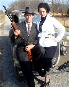 Actors depict 30s gangsters Bonnie and Clyde in BBC Timewatch: The Real Bonnie And Clyde