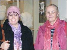 Lorna Jones (left) Helena Mcintosh