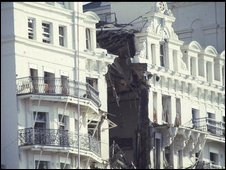 The Grand Hotel after a bombing by the IRA in 1974.