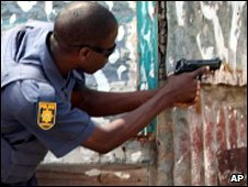 South African police officer (file photo)