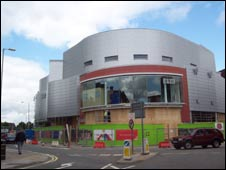 The Vue cinema under construction