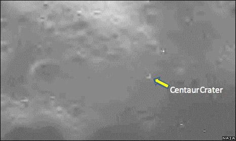 Centaur crater (Nasa)