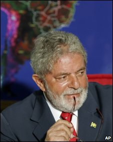 President Lula at a climate meeting in Brasilia, 3 Nov