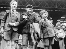 Boys waiting at Victoria Station