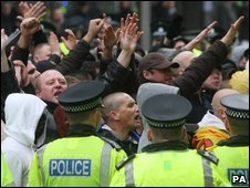 SDL protestors in Glasgow