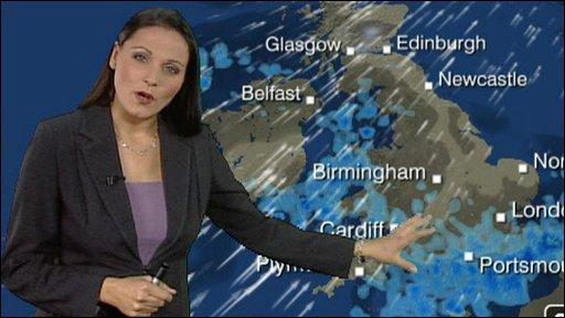 BBC weather presenter Elizabeth Saary