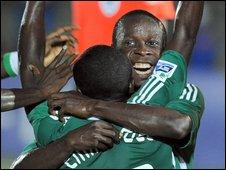 Nigerian players celebrating