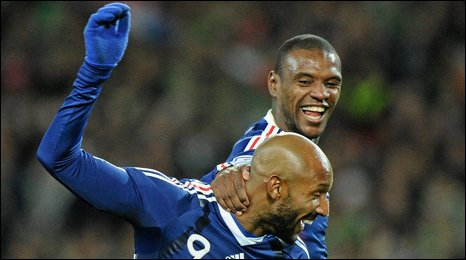 Nicolas Anelka and Eric Abidal