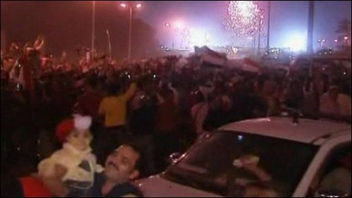 Celebrations in Cairo after the match