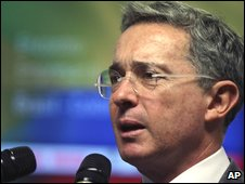 President Alvaro Uribe (file image from Oct 2009)