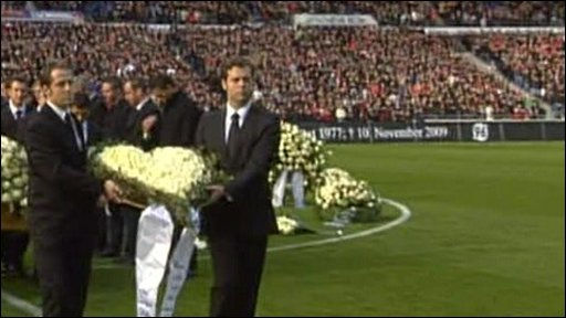 Robert Enke's coffin