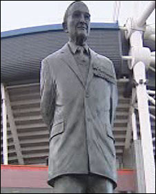 The statue of Sir Tasker Watkins outside the Millennium Stadium