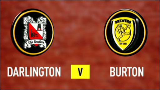 Darlington 1-0 Burton Albion
