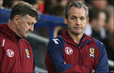 Scotland manager George Burley (right) and assistant Paul Hegarty