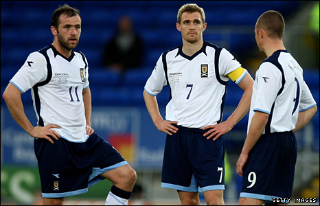 James McFadden, Darren Fletcher and Kenny Miller