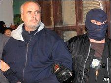 Domenico Raccuglia and a policeman