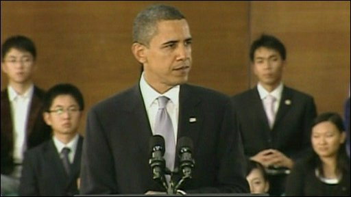 Barack Obama in Shanghai, China