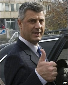 PM Hashim Thaci in Pristina, Kosovo, 15 November 2009