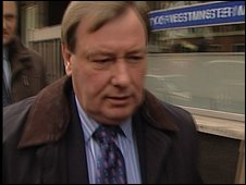 Peter Storrie arriving at an earlier court hearing