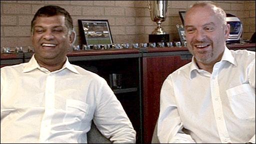 Tony Fernandes and Mike Gascoyne