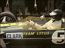 F1 legend Jim Clark in a Lotus in 1967