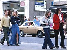 Seventies street scene
