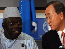 Jacques Diouf and Ban Ki-moon